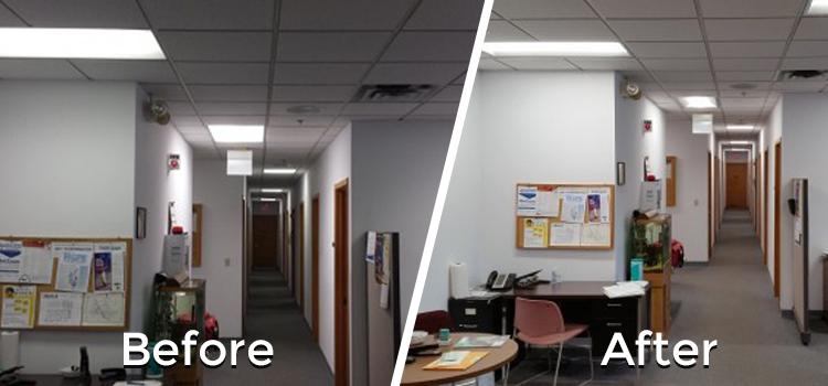 Office Lighting Retrofitting Dubai